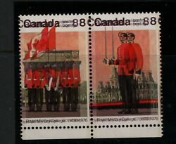Canada 693d Very Fine Never Hinged Double Impression Pair With Certificate