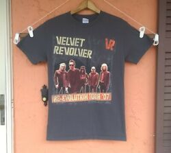 Velvet Revolver Re-Evolution Tour 2007 T Shirt Men's Size Small GRAY