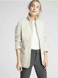 NEW ATHLETA Evolution Blazer SMALL Moonstone  Work Commute Travel Jacket Coat