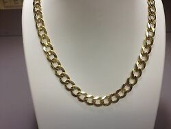 14k Solid Yellow Gold Comfort Curb 30 7 Mm 35 Grams Chain/necklace Cc180