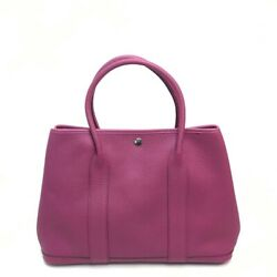 Hermes Hand Bag Garden Party Pm Tote Bag Purple Fjord