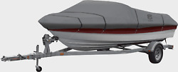 Classic Accessories Lunex Rs 1 Boat Cover Gray Size And039cand039 16-18.5 Ft.