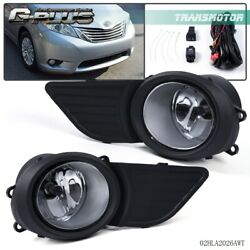 For Toyota Sienna 2011-2017 Fog Light Grille Front Driving Lamp Assembly Kit