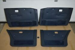 Bmw E28 Oem Perforated Pacific Door Panels 4x Set For Leather Interior Very Rare