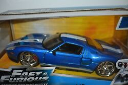 Fast And Furious Jada 124 Die Cast Ford Gt Movie Merchandise- Blue- New In Box
