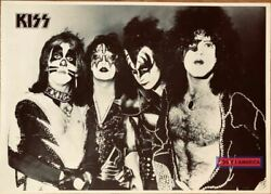 Kiss Band Rock Poster Uk Import Black And White 23.5 X 33