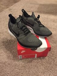 Nike Air Zoom Mariah Flyknit Racer 918264008 Menand039s Light Charcoal Size 10