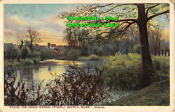 R354907 Where Yon Broad Waters Sweetly Slowly Glide. Tennyson. Series. 1583. 191