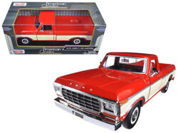 1979 Ford F-150 Red / Cream Pickup 124 Diecast Model - Motormax 79346rdcrm