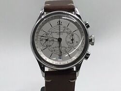 Baume And Mercier Capeland Chronograph 65542 Stainless Steel 38mm Watch