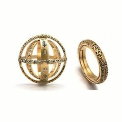 Astronomical Ball Ring For Lovers Creative Ring Lettering 16th Century German Lo