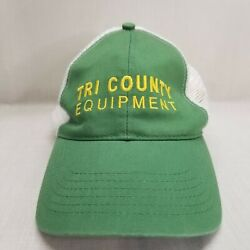 John Deere Embroidered Two Tone Mesh Green White Snapback Trucker Hat Tri County $14.99