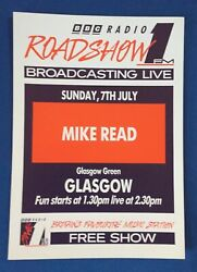 Bbc Radio 1 A4 Roadshow And03991 Flyer Poster Mike Read Glasgow