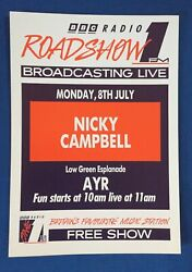 Bbc Radio 1 A4 Roadshow And03991 Flyer Poster Nicky Campbell Ayr