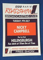 Bbc Raio 1 A4 Roadshow And03991 Flyer Posters Nicky Campbell Helensburgh