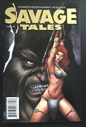 Savage Tales 1 Gold Variant Red Sonja 2007 Comic Book With Coa