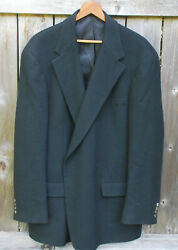 Norm Thompson Mens 100 Cashmere Black Sportcoat Jacket 2 Button Xl Tall