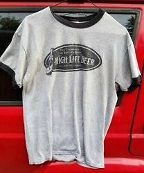 Vintage High Life Champagne Of Bottled Beer T Shirt Miller - Milwaukee Wi Gray M