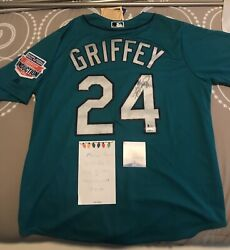 Ken Griffey Jr. Autographed/signed Mariners Teal Jersey