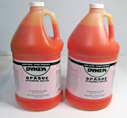 Lot Of 2 1 Gallon Dykem Opaque Staining Color Orange