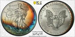 2011 Silver Eagle 25th Anniversary Set Pcgs Ms67 Beautiful Naturally Toned