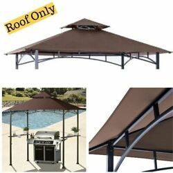 Canopy Roof Replacement For Grill Shelter Fit Gazebo L-gz238pst-11 Brown 8' X 5'