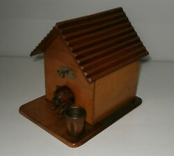 Novelty Antique Cheroot House And Super Carved Guard Dog Complete C1880-00