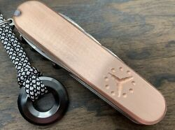 Custom Copper Swiss Army Knife Scales Installed On All 91mm Victorinox Knives