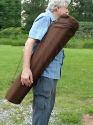Baseball Bat Bag With Zipper Top - Holds 9 Bats - By Chag Ny Designs - Brown