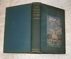 Jack London The Cruise Of The Snark Macmillan 1911 1st Extra Plt Teg Color Front