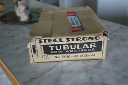 Vintage Steel Strong Tubular Coin Wrappers T510 5 In Dimes 328 Pcs.