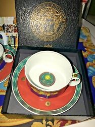 Versace Le Roi Soleil Cup Plate Set Tea Or Coffee King New Box Discontinued