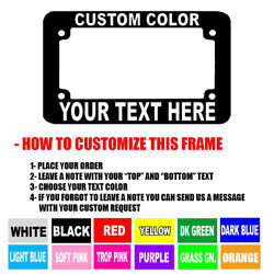 40 Custom Font Motorcycle Custom Personalized License Plate Frame Color