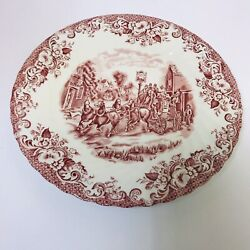 Johnson Brothers Coaching Scenes-pinkandnbsp 9 3/4 Dinner Plate Discontinued