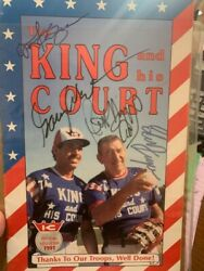 The King And His Court 1991 Program Autographed By Eddie Feigner And Others