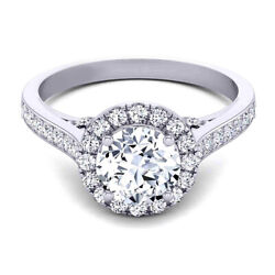 Natural 0.90 Ct Round Diamond Engagement Ring Solid 14k White Gold Size 5 6 7 8