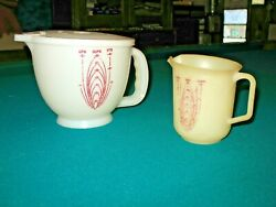 Tupperware Mix N Stor 8 Cup Pitcher W/lid 16 Oz Pitcher Vintage Kitchen Cooking