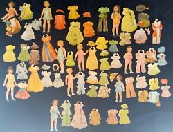 Vintage Early 1940s Young Girl With Dresses Paper Dolls 77 Pieces