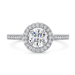 Fine 0.85 Ct Natural Diamond Engagement Round Ring Solid 14k White Gold Size 7 8