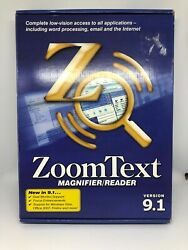 Zoom Text Magnifier/reader Version 9.1 Cd + Userand039s Guide + Reference Guide Wow
