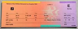 1984 Usa Olympics Los Angeles 4 Boxing Tickets La Sports Arena Never Used Mint