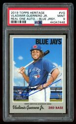 2019 Topps Heritage Vladimir Guerrero Jr. Real One Auto Rookie Psa 9 Mint Rc Vg