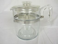 Pyrex 7759-b 9 Cup Coffee Percolator Vintage Used Complete