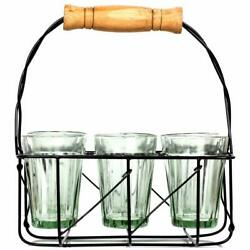 Urban Platter Cutting Chai 6 Glasses With 1 Stand