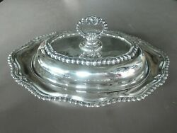 Portuguese Or Brazilian .833 Silver Alloy Oblong Covered Bowl