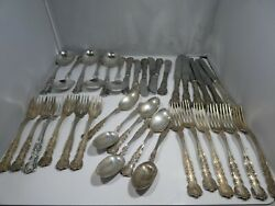Gorham Buttercup Sterling Silver 6 Piece Place Setting For 6 Plus Extras