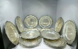 12 Camusso Sterling Silver 6.75 Inch Plates 51.1 Troy Ounces