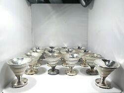 14 Sterling Silver And Mother Of Pearl Shell Compotes Super Exclusive