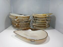 14 Sterling Silver And Mother Of Pearl Shell Plates Super Exclusive