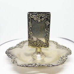 Heavy Sterling Silver Matchbook Holder / Ashtray 3.62 Troy Ounces